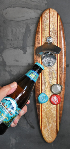 man cave longboard bottle opener | mancavewoodworking.com
