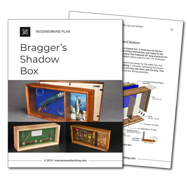 Man Cave Woodworking plans | Bragger's Shadow Box | mancavewoodworking.com