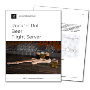 Man Cave Woodworking plans | Rock 'n' Roll Beer Flight Server | mancavewoodworking.com