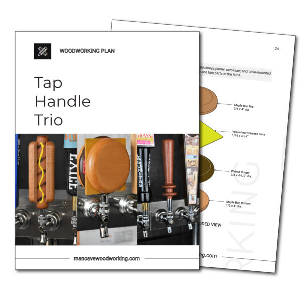 Man Cave Woodworking plans | Tap Handle Trio | mancavewoodworking.com
