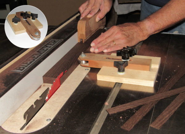 man cave woodworking thin strip ripper jig | mancavewoodworking.com