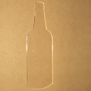 acrylic beer bottle templates | mancavewoodworking.com